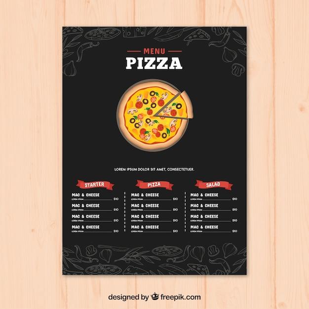 Modelo do menu do restaurante no estilo desenhado à mão Vetor grátis
