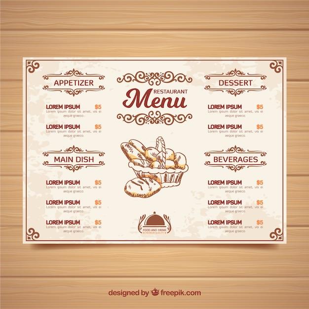 Modelo do menu do restaurante baixar vetores gr tis for Modelos de restaurantes