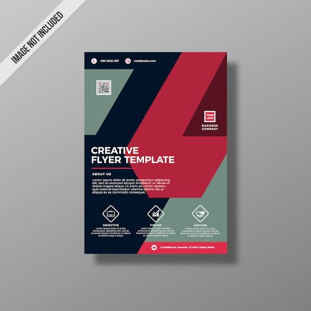 Modelo do panfleto criativo Vetor grátis