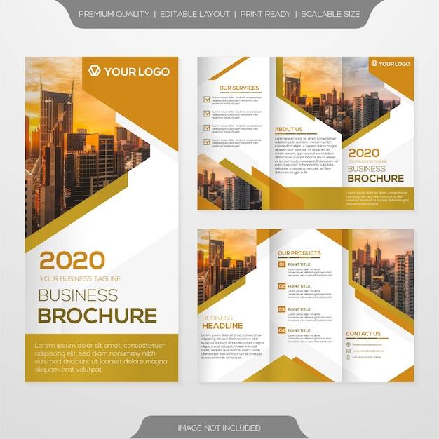 Modelo e brochura de negócios minimalista Vetor Premium