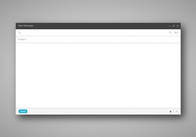 Modelo em branco de e-mail Vetor Premium