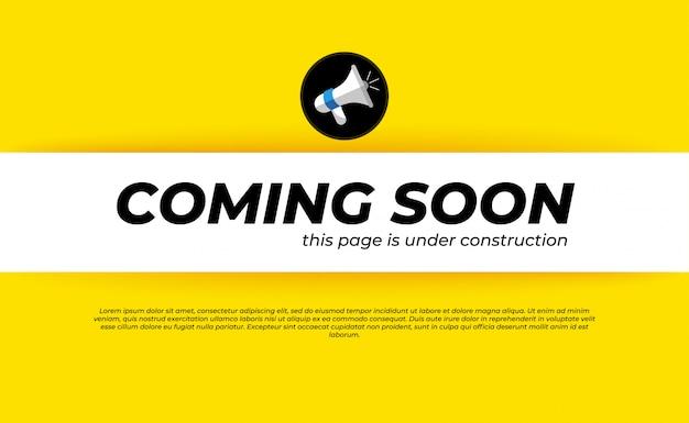 Modelo em breve em construção Vetor Premium
