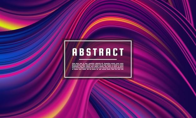 Modelo geométrico abstrato roxo escuro, vetor de fundo roxo wave color flow Vetor Premium