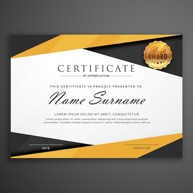 Modelo geométrico amarelo e preto projeto certificado ...