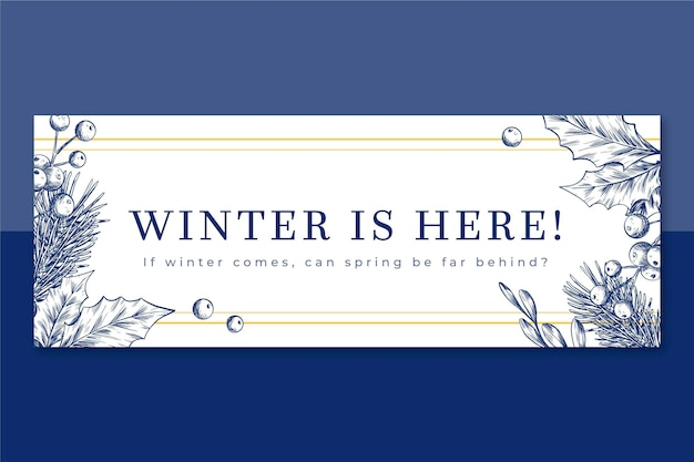 Modelo ilustrado de capa do facebook de inverno Vetor grátis