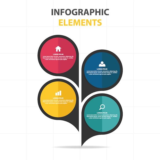 Modelo infográfico abstrato abstrato colorido Vetor grátis