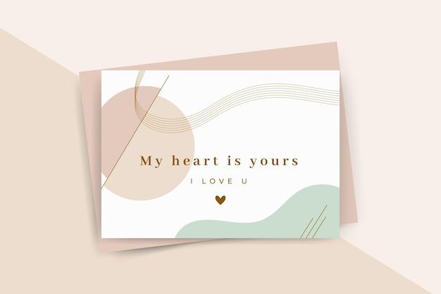 Modelo minimalista de cartão de dia dos namorados Vetor grátis