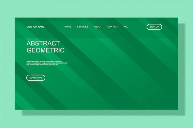 Modelo moderno de página de destino colorido para site de negócios Vetor Premium