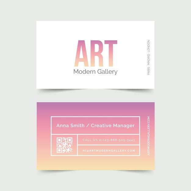 Modelo para cartões de visita gradiente pastel Vetor grátis
