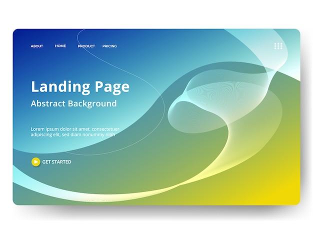 Modelo para página inicial da web, banner, apresentação Vetor Premium