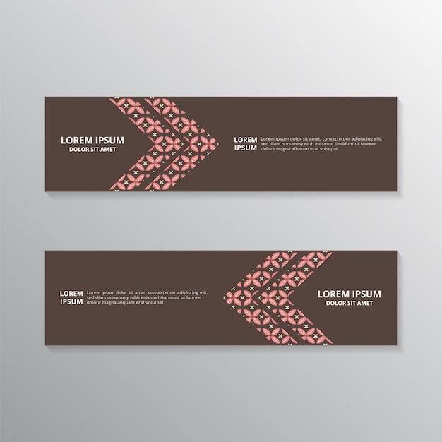 Modelos de banner de batik Vetor Premium