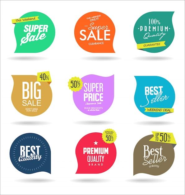 Modelos de banner de venda Vetor Premium