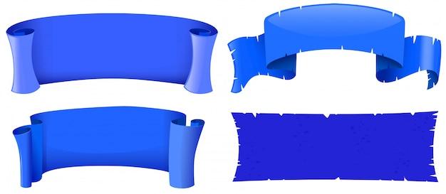 Modelos de banner na cor azul Vetor grátis