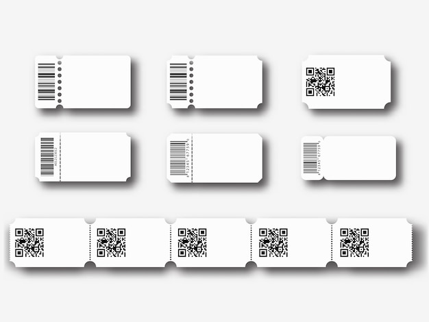 Modelos de bilhetes em branco Vetor Premium