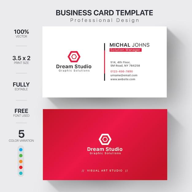Modelos de cartões de visita Vetor Premium
