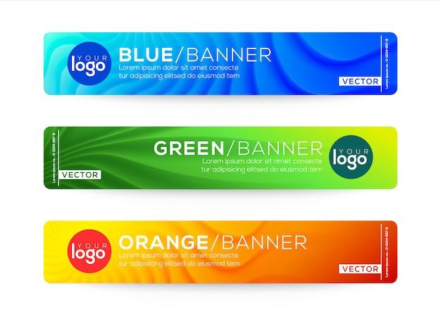 Modelos de design abstrato web banner ou cabeçalho. Vetor Premium