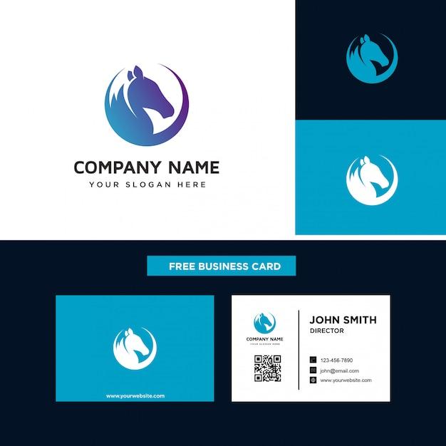 Modelos de design de logotipo de cavalo Vetor Premium
