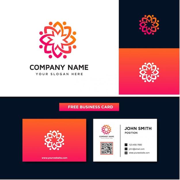 Modelos de design de logotipo de flor de florescência Vetor Premium