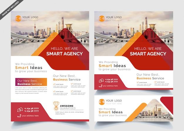 Modelos de design de negócios de banners e folhetos Vetor Premium
