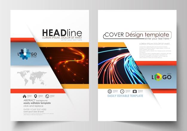 Modelos de folheto, panfleto, folheto. Vetor Premium