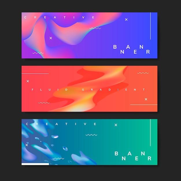 Modelos de fundo gradiente fluido Vetor grátis