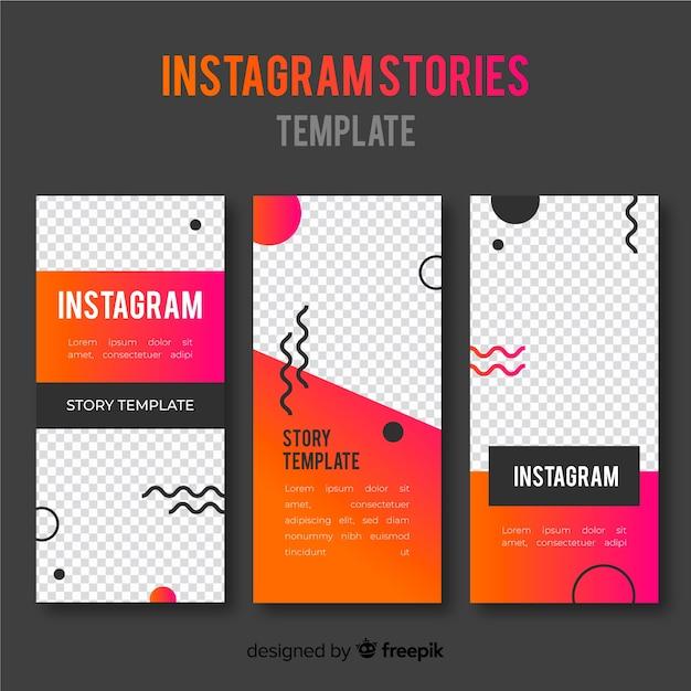 Modelos de histórias do instagram com moldura vazia Vetor grátis