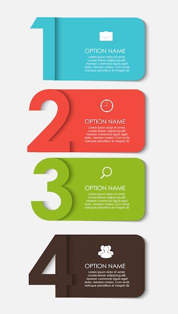 Modelos de infográfico para ilustração de negócios Vetor Premium
