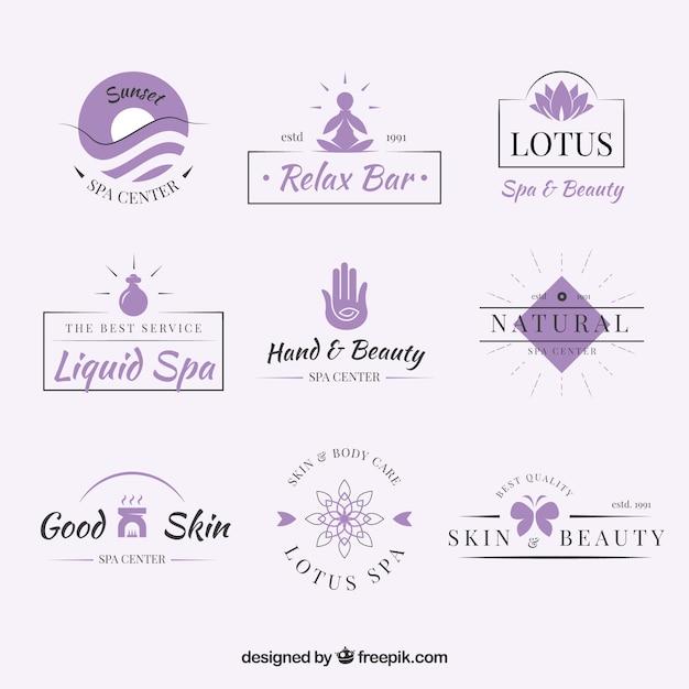 Modelos de logotipo bom spa Vetor grátis