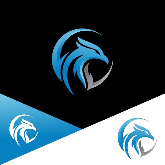 Modelos de logotipo da águia Vetor Premium