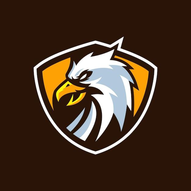 Modelos de logotipo da eagle esports Vetor Premium