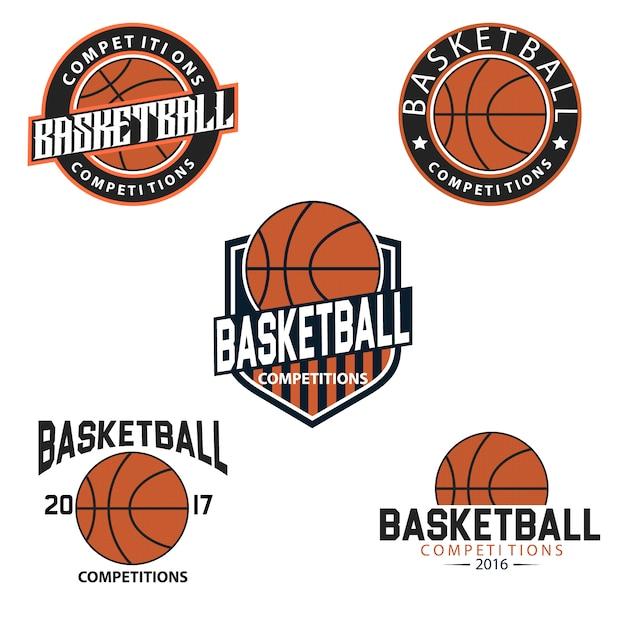 Modelos de logotipo de basquete Vetor grátis