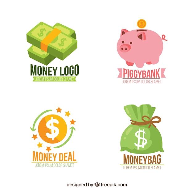 Modelos de logotipo de dinheiro Vetor grátis