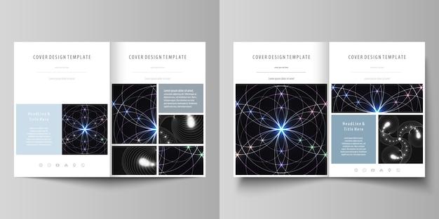 Modelos de negócios para brochura bi fold Vetor Premium