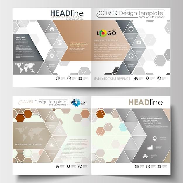 Modelos de negócios para brochura desenho quadrado, revista, folheto, livreto ou relatório Vetor Premium