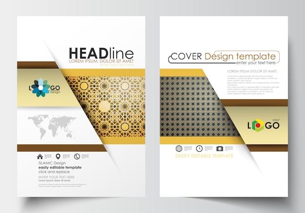 Modelos de negócios para brochura Vetor Premium