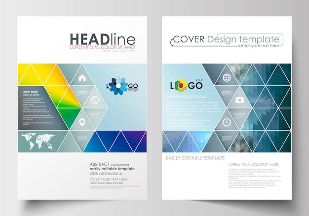 Modelos de negócios para folheto, revista, folheto, livreto. modelo de design de capa em a4 siz Vetor Premium