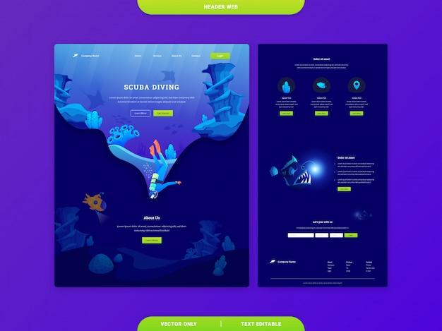 Modelos de página de destino da web de cabeçalho Vetor Premium