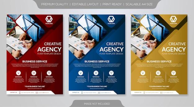 Modelos de panfleto de negócios Vetor Premium