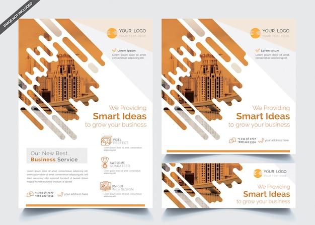 Modelos de panfleto e banner de negócios Vetor Premium