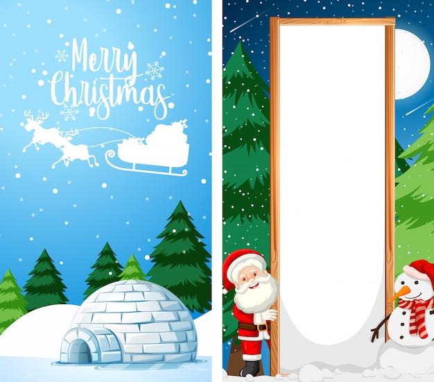 Modelos de papel de parede com tema de natal Vetor grátis