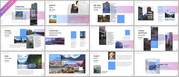 Modelos de portfólio de apresentações com gradiente colorido Vetor Premium