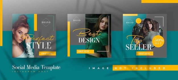 Modelos de postagem em mídia social de venda de moda Vetor grátis