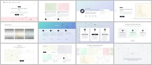 Modelos de vetor para design de site, apresentações mínimas, portfólio. ui, ux, gui. Vetor Premium