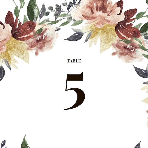 Modelos dos cartões de casamento das rosas de borgonha Vetor Premium