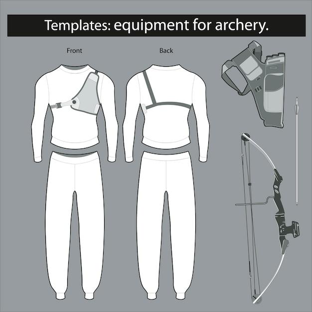 Modelos: equipamentos para tiro com arco Vetor Premium