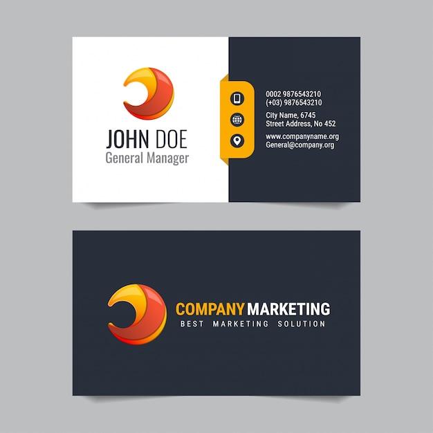 Modern business card vector template design baixar vetores premium modern business card vector template design vetor premium reheart Gallery