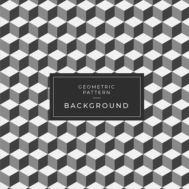 Modern geometric monochrome tile pattern para papel de parede Vetor Premium