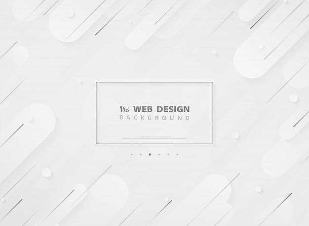 Modern landing page web design moderno geométrico branco mínimo Vetor Premium