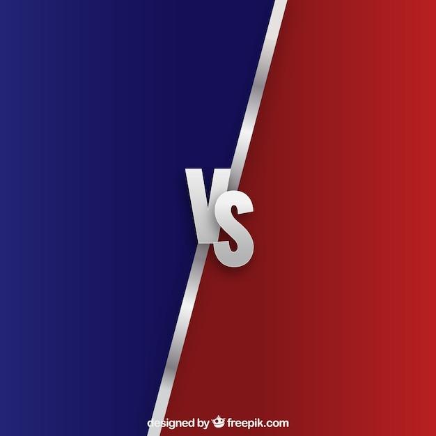 Modern versus fundo com estilo realista Vetor grátis