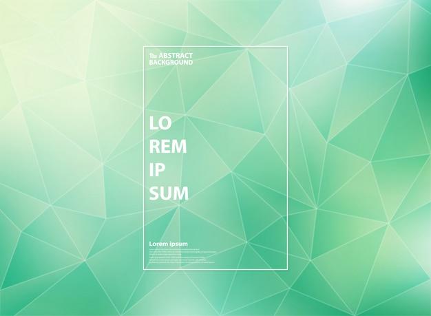 Moderna hortelã verde gradiente de padrões de baixo polígono triângulo Vetor Premium